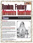 RPG Item: Random Fantasy Adventure Generator