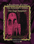 RPG Item: A Breakdown of Order: The Alchemist's Schism One Page Jumpstart