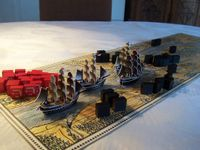 """Je me souviens..."" The British fleet in the Bason ! Better looking with a few ships from Pirates of the Spanish Main."