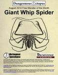 RPG Item: X-05: August 2014 Free Monster of the Month: Giant Whip Spider