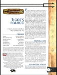 RPG Item: Tiger's Palace