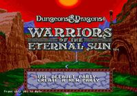 Video Game: Dungeons & Dragons: Warriors of the Eternal Sun
