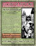 RPG Item: Classes of Kor'Onus: The Revised Barbarian