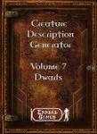 RPG Item: Creature Description Generator Volume 07: Dwarfs