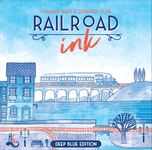 Board Game: Railroad Ink: Deep Blue Edition
