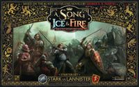 Board Game: A Song of Ice & Fire: Tabletop Miniatures Game – Stark vs Lannister Starter Set