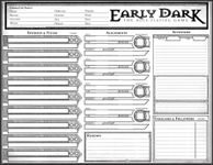 RPG Item: Early Dark Character Sheet