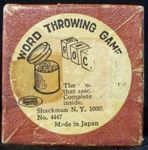 Board Game: Word Throwing Game