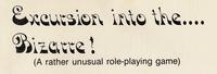 RPG: Excursion into the Bizarre