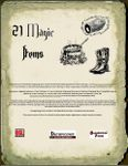 RPG Item: 21 Magic Items