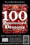 RPG Item: 100 Summoned Demons for all fantasy, horror & modern RPGs