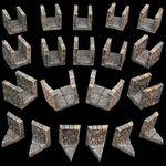 RPG Item: Game Tiles Narrow Dungeon Passage Pack