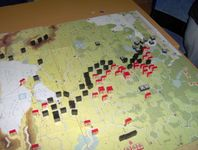 Summer '42 - end of scenario. The Germans have taken Leningrad, reached Moscow, and are nearing the Caucasus. This amounts to a marginal Axis victory.
