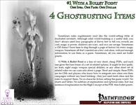 RPG Item: Bullet Points: 4 Ghostbusting Items