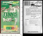 Board Game: Sportz Dice: Tennis