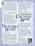 RPG Item: The Emporium of Uncanny Magic - Notable Rods