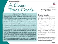 RPG Item: A Dozen Trade Goods