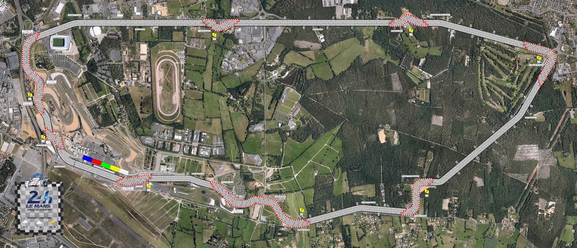 Circuit de la Sarthe LeMans (fan expansion for Formula D(é))