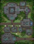 RPG Item: VTT Map Set 273: Jungle Planet Outpost