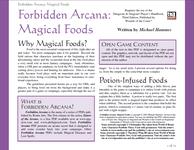 RPG Item: Magical Foods
