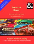 RPG Item: Classic Modules Today X5: Temple of Death