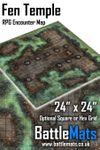 RPG Item: Fen Temple RPG Encounter Map