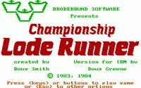 Video Game: Championship Lode Runner