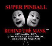 Video Game: Super Pinball: Behind the Mask