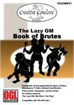 RPG Item: The Lazy GM: Book of Brutes