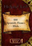 RPG Item: 100 Spanish Names - Male