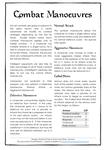 RPG Item: Combat Manoeuvres