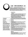 Issue: AAB Proceedings (Issue 18A)