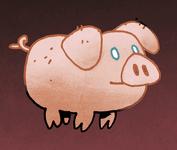Oracular Pig card art from Oath the Board Game; Artist Kyle Ferrin. It's a good, good little piggy.