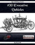 RPG Item: #30 Evocative Vehicles