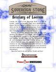 RPG Item: Bestiary of Loerem (Pathfinder)