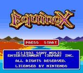 Video Game: Equinox