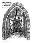 RPG Item: Daemonic & Arcane