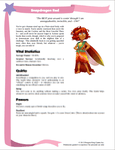 RPG Item: Costume Fairy Adventures Quickstart Edition Playbook: Snapdragon Red
