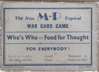 Board Game: Who's Who or Food for Thought