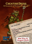 RPG Item: Creature Decks: 54 Humanoids & Monstrous Humanoids (Dungeon World)