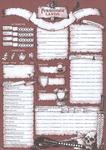 RPG Item: Forbidden Lands Character Sheet Pad