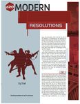 RPG Item: Resolutions
