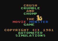 Video Game: Crush, Crumble and Chomp!