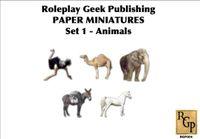 RPG Item: Paper Minis Set 1: Animals